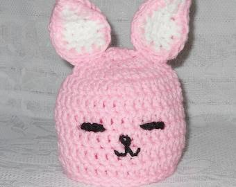 Baby Bunny Rabbit Crochet Hat Easter Baby Bunny