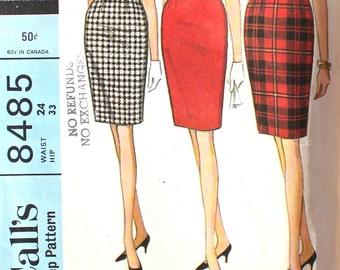 Easy to Sew Set of Slim Skirts Waist 24