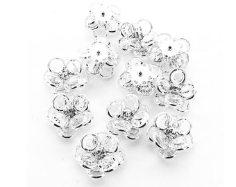 Swarovski channel crystal cluster components in silver plated settings.  Size 20x20mm.  Price is for 1 piece