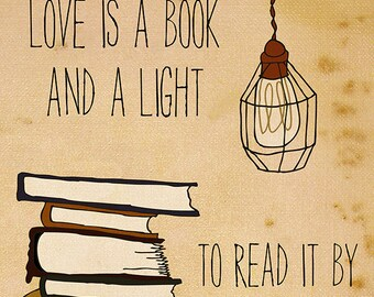 Love Is A Book - Illustration Print