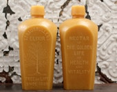 """Beeswax Candle - antique bottle shaped - XXL """"Tree of Life"""" - by Pollen Arts"""