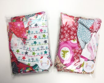 Christmas Designer 100% Cotton Fabric Scrap Bag 100g