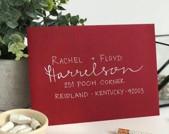 Calligraphy Envelope . Calligraphy Wedding Envelopes . Envelope Calligraphy . Envelope Calligraphy . Wedding Addressing . Modern Calligraphy