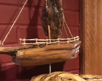 Drifting on the high seas - Driftwood Ship mantle piece