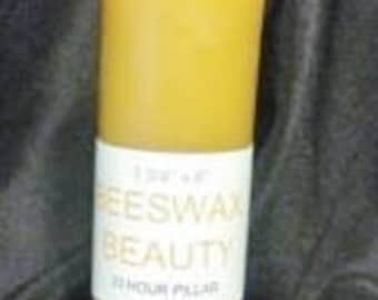 100% Pure Beeswax 6 Inch Pillar Candle