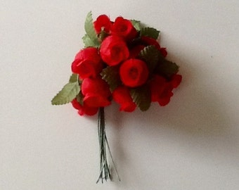Silk (artificial) Red Roses by Modern Romance