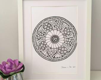 Flower Mandala, Wall Art, Home decor