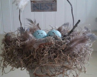 Peat Pot Decorative Nest Basket.