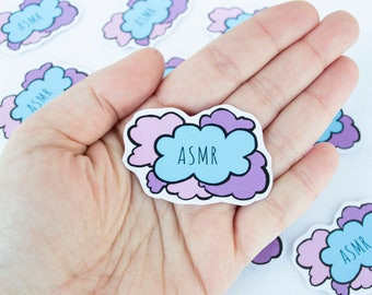 ASMR Autonomous Sensory Meridian Response Sticker Stationery Kawaii Cute Clouds Clowds Handmade Art Digital Drawing Scrapbooking Supplies