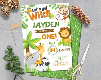 Safari invitation etsy self editing safari birthday invitation safari party invite safari party zoo invitation jungle invitation first birthday any age a146 w filmwisefo