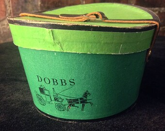 Dobbs Vintage Salesman Sample Hat Bot with Leather Strap