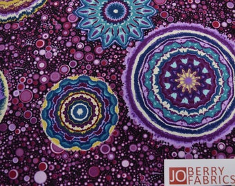 Large Circles is from the Circle Play Collection by Ann Lauer of Grizzly Gulch Gallery for Benartex, Quilt or Craft Fabric.