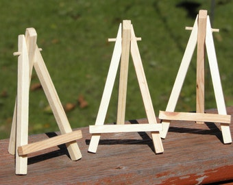 MINIATURE EASEL - Painting Display, Art Display, Wooden Easel, ACEO Painting Supply, Small Easel, Tiny Easel