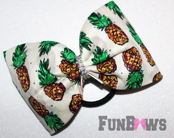 Pineapple ! Beautiful new boutique rhinestone cheer bow by FunBows !