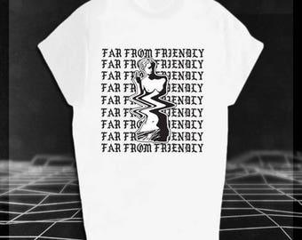 Far From Friendly Shirt // Vaporwave // No New Friends // Aesthetics Clothing // Drake PRE-ORDER