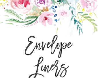 Envelope Liners; Printable or set of 25