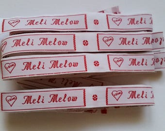 """Set of 52 label """"love"""" woven personalized with your text, 15 mm sew or iron"""