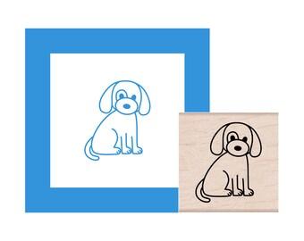 Puppy Dog Rubber Stamp