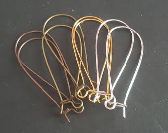 20 hooks sleepers earrings 4 mm 36 colors