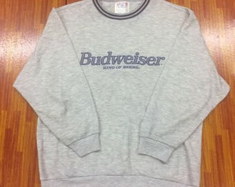 Vintage Budweiser king of beers sweatshirts..big logo..