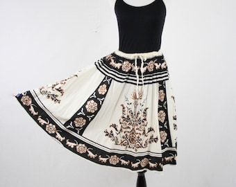 Vintage India Cotton Sequined Cotton Skirt