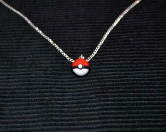 Pokemon Inspired Pokeball Necklace