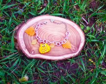 Yellow owls Bracelet