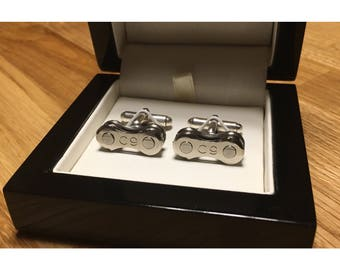 Campagnolo Record Classic Sterling Silver Cycle Chain Cufflinks