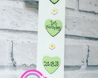 First Birthday gift 1st birthday , freestanding number Personalised Keepsake , birthday gift , special birthday