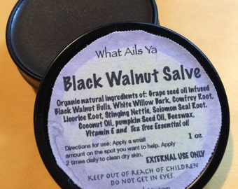 Black Walnut Salve  Anti Fungal Salve 1 oz Round Tin With Free Shipping USA