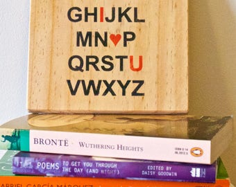 Anniversary/Romantic Love Alphabet made from recycled wood