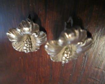 Sterling Hibiscus Earrings