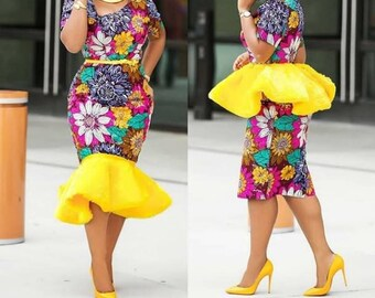 Multicolored Ankara dress
