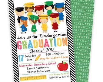 Preschool Graduation Invitation, Preschool Invitation, Preschool Invite, Preschool Graduation, Last Day of School, Graduation Invites | 631
