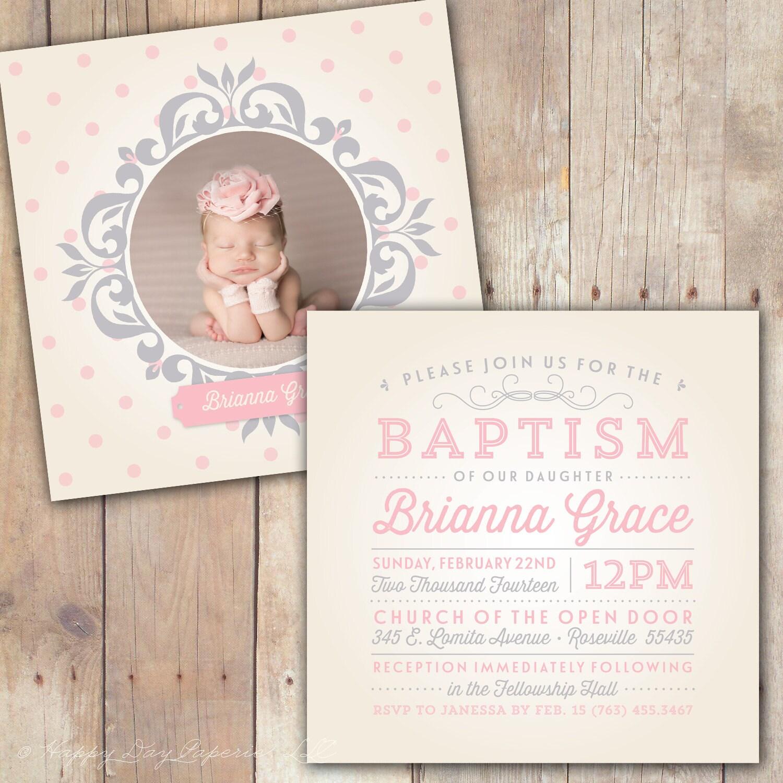 Vintage Elegance Custom Baptism Baby Dedication First