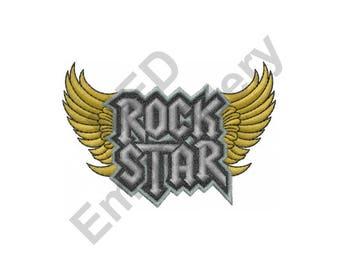 Rock Star - Machine Embroidery Design