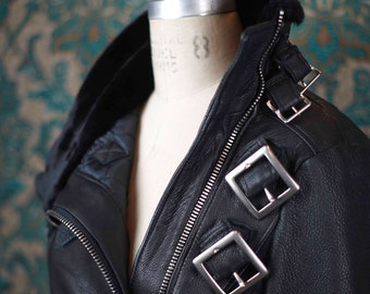 Deerskin Biker Jacket-----Custom Made Leather Jackets