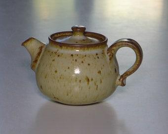 Stoneware pot 140ml, yellow salt glaze