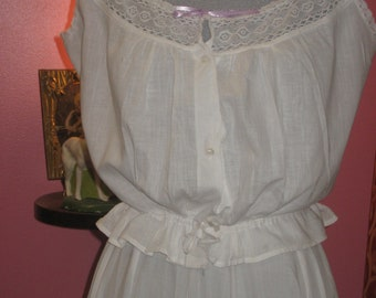 "1910's, 36"" bust, white batiste cotton camisole"