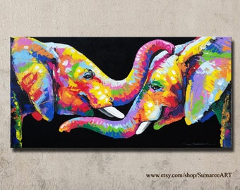 48 x 98 cm, Elephant Painting, wall decor