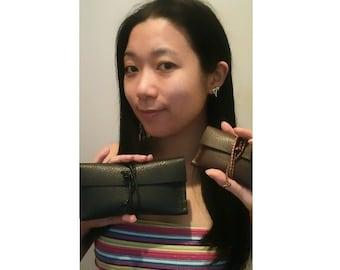 Leather cardholder or wallet