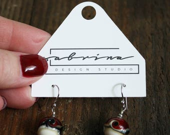 Custom Mini Earring Cards  2.25 inches by 2 inches with hanging option