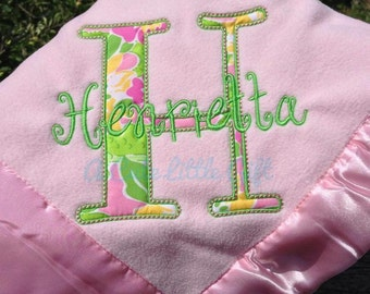 Baby Blanket with Lilly Pulitzer Fabric