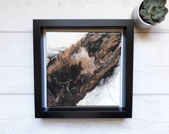 Acrylic Paint Pour Canvas - framed canvas paint pour
