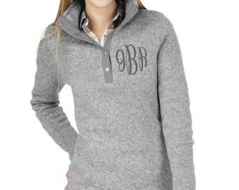 Monogram Hingham Pullover, Monogram Fleece Pullover Tunic, Monogram Sweatshirt, Monogram Pullover, Monogram Quarter Zip, Monogram Tunic