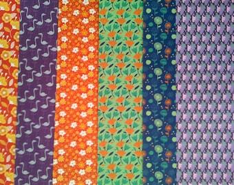 Papier origami 15 x 15 cm - 6 feuilles P1