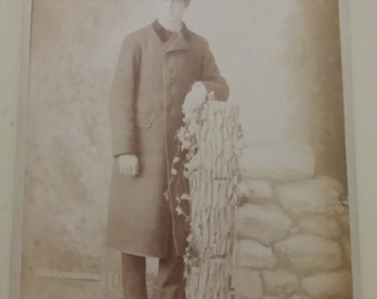 Antique Cabinet Card Gentleman in Bowler Hat CC521
