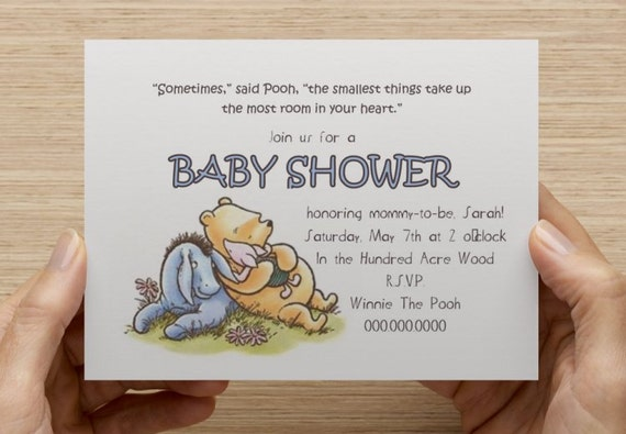 Agile image within printable winnie the pooh baby shower invitations