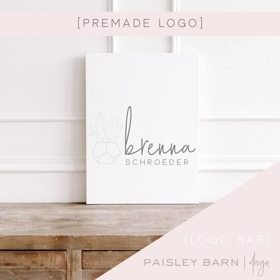 Simple Logo | succulent, premade logo, logo design, minimalist, light, plants, design studio, photographer