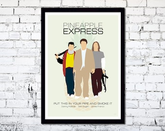Pineapple Express // Minimalist Movie Poster // Unique Art Print